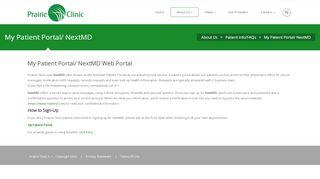 Prairie Clinic Patient Portal