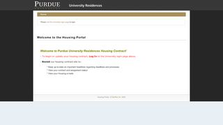 Purdue Housing Portal