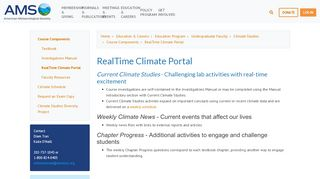 Real Time Climate Portal
