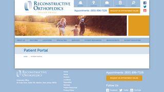 Reconstructive Orthopedics Patient Portal