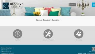 Reserve At Lake Irene Resident Portal