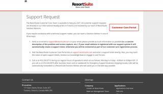 Resortsuite Customer Care Portal
