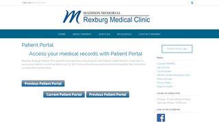 Rexburg Medical Center Patient Portal