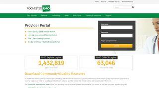 Rhio Provider Portal