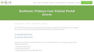 Rochester Primary Care Patient Portal