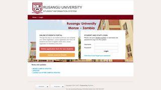 Ru Edu Zm Student Portal
