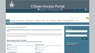 Salt Lake City Citizen Access Portal