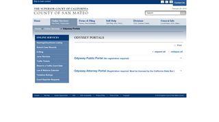 San Mateo County Odyssey Portal