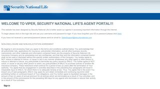 Security National Life Agent Portal