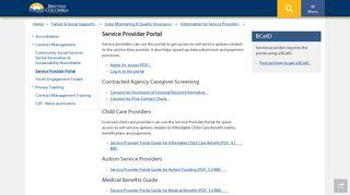 Service Provider Portal