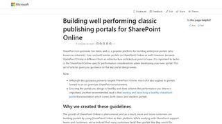 Sharepoint Online Portal