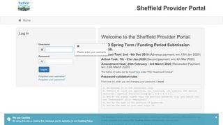 Sheffield Provider Portal