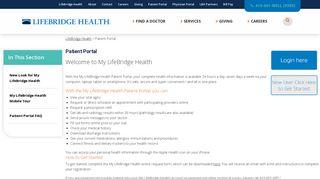 Sinai Hospital Patient Portal