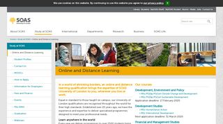 Soas Distance Learning Portal