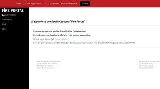 South Carolina Fire Academy Portal