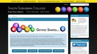 South Suburban Student Portal