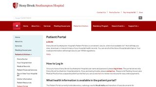 Southampton Hospital Patient Portal