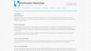 Southeastern Nephrology Patient Portal