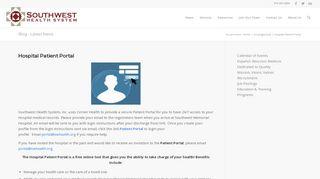 Southwest Memorial Hospital Patient Portal