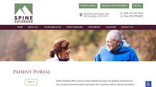 Spine Patient Portal