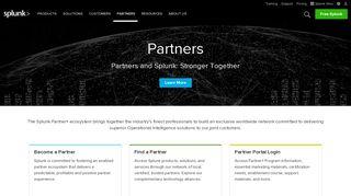 Splunk Partner Portal