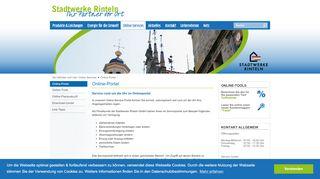 Stadtwerke Rinteln Online Portal