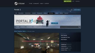 Steam Workshop Portal 2