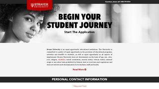 Strayer University Application Portal