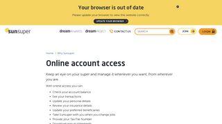 Sunsuper Online Portal