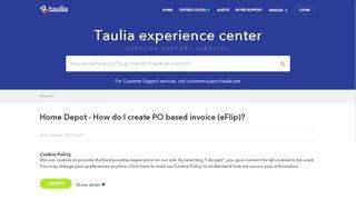 Taulia Portal Home Depot