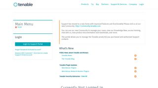 Tenable Support Portal