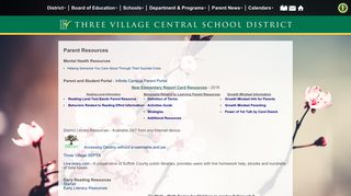 Three Village Parent Portal