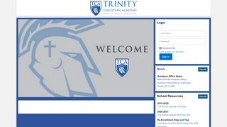 Trinity Christian Academy Plus Portal