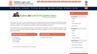 Ugc Ac In Job Portal