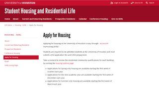 Uh Housing Portal