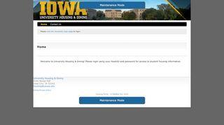Uiowa Housing Portal