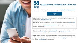 Umass Boston Email Portal