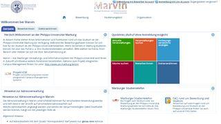 Uni Marburg Online Portal