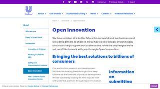 Unilever Open Innovation Portal