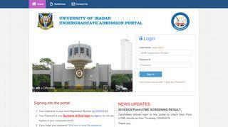 University Of Ibadan Admission Portal