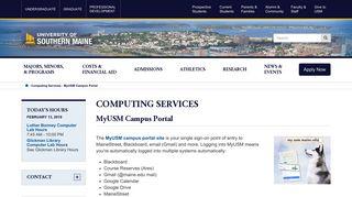 University Of Southern Maine Portal