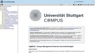 University Of Stuttgart C Mpus Portal