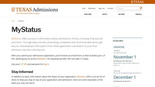 University Of Texas Application Portal