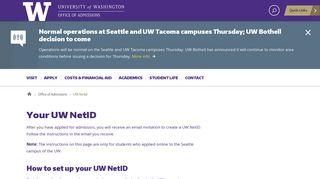 University Of Washington Portal