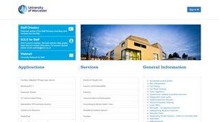 University Of Worcester Staff Portal