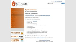 Uthscsa Student Portal