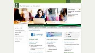 Uvm Email Portal