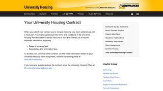 Uwm Housing Portal