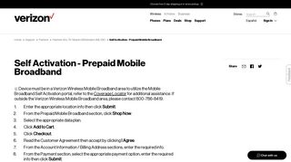 Verizon Wireless Mobile Broadband Portal