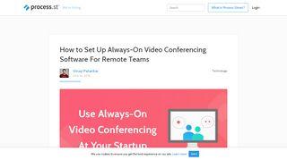 Video Portal Between Offices